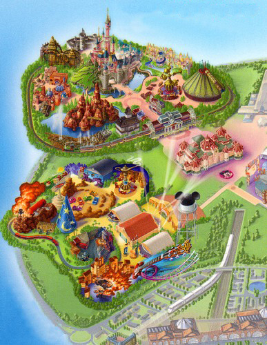 Plan du parc Disneyland Resort Paris